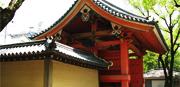 重要文化財の赤門大練塀