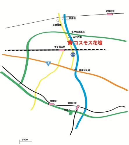 武庫川花壇地図